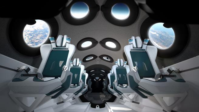 Así es una nave espacial por dentro: Virgin Galactic desvela la cabina de SpaceShipTwo, su cápsula para turistas